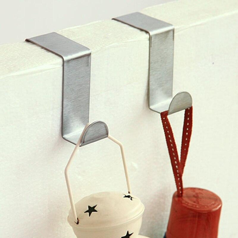 1set Shape Door Hanging Hook Clothes Towel Cap Key Holder Hat Organizer Storage Rack Coat Stand Kitchen Cupboard Dishcloth Shelf