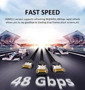 Image 2 - Navceker 2020 48Gbps 2.1 Hdmi Kabels 8K @ 60Hz Hdmi 2.1 Kabel 8K Hdmi Kabel 2.1 hdr 4K Hdmi 2.1 Cabo Voor Apple Tv Samsung Qled Tv
