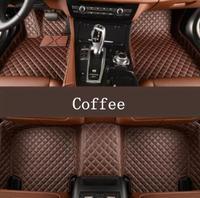High Qualit Car Leather Floor Mats Fits For Hyundai Grandeur Azera 2011 2018 Free shipping