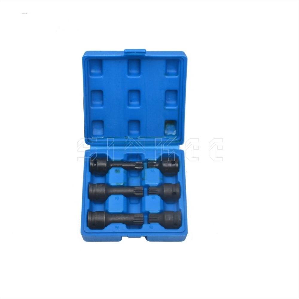 6 Piece 1 2 Drive Impact Spline Bit Socket Tool Set 12 Point M14 M16 M18