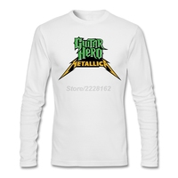 Men S Metallica Guitar Hero T Shirt Musically Maker Thrash Metal Style Tops For Mens Long