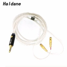цена на Free Shipping Haldane 2.5/3.5/4.4mm Balanced 8Core Silver Plated Cable For HE400 HE5 HE6 HE300 HE560 HE4 HE500 HE6 Headphones