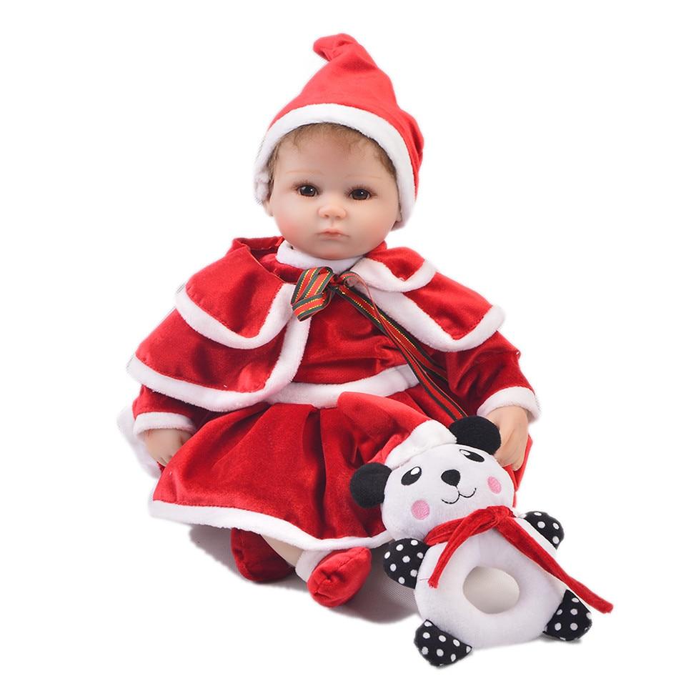 KEIUMI réaliste 17 ''42 cm Silicone souple Reborn bébés poupée réaliste jumeaux bébé poupée jouet Cosplay père noël enfant cadeau de noël