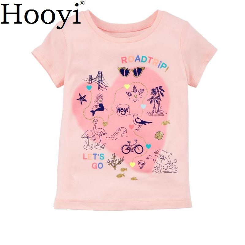 100% Cotton Baby Clothes Tops Pink Heart Soft Babies Girls Tees Shirts 6 9 12 18 24 Month Infant Jumper Children Dress Clothing