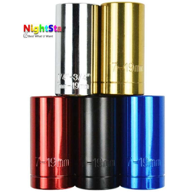 Colorful Multi Funzione Chiave A Cricchetto Chiave Universale 7-19mm Power Drill Adattatore per Auto A Mano Strumenti di Riparazione Kit w/adattatore