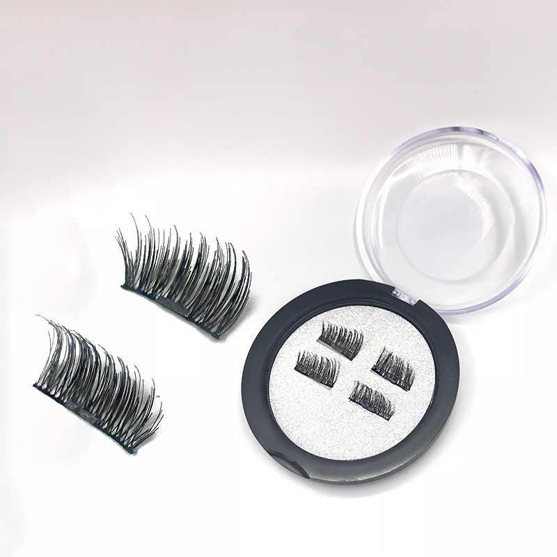 587dd478329 ... 4Pcs/Set Hot Reusable 3D Magnetic False Eyelashes Long Thick Natural  Eyelashes Extension Makeup No