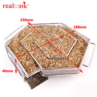 BBQ Accessories Cold Smoke Generator Charcoal Barbecue Grill Cooking Tools For Smoker Flavor Wood Chips Grill