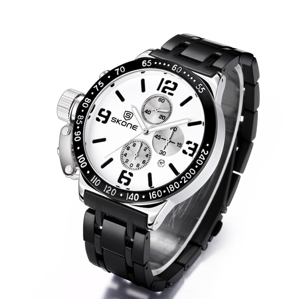 SKONE Stopwatch 6 Händer 24 Hours Funktion Chronograph Sport Klockor - Herrklockor - Foto 3