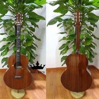 41inch OM Open chords top solid mahogany wood acoustic guitar, rosewood fingerboard open tuning peg Bovine bone nut folk guitar