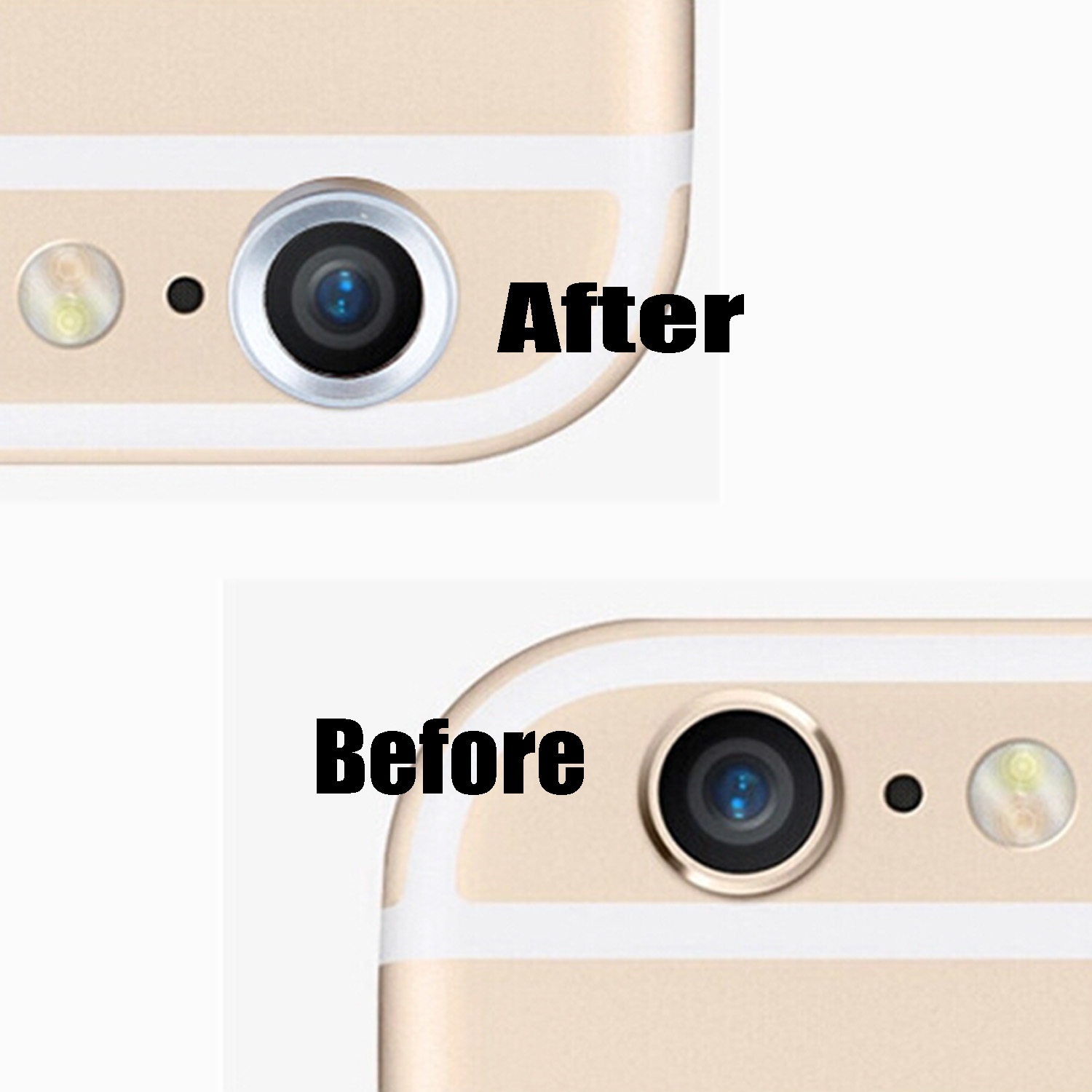 Besegad Metal Rear Camera Lens Protective Ring Guard Circle Cover Lens Protector Bumper Case for iPhone