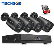 Techege 4CH 1080 P CCTV Système NVR POE NVR ONVIF Nuage P2P 1.3MP 960 P Étanche de Vision Nocturne CCTV IP Caméra de Sécurité système