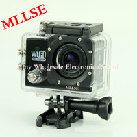 Free Shipping WiFi 30M Waterproof Sport DV Action Camera 12MP Full HD 1080P 2 0 LCD