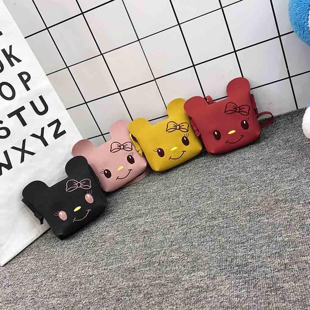 2019 Die Neue Kinder Mode Cartoon Tasche Einfarbig Katze Schulter Tasche Casual Mode Mädchen Nette Diagonal Paket