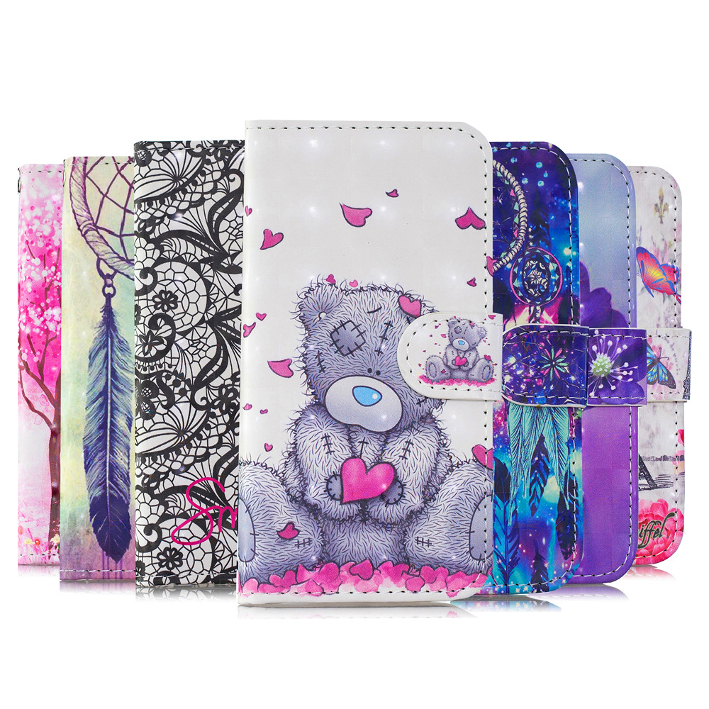 Flip <font><b>Leather</b></font> <font><b>Case</b></font> For <font><b>Sony</b></font> <font><b>Xperia</b></font> <font><b>1</b></font> XZ3 XZ4 L2 L3 Cover 3D Wallet Stand Phone <font><b>Case</b></font> image