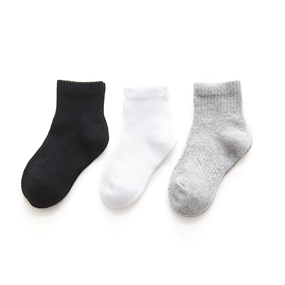 New Children/'s Kids Girls Back To School 3 Pair Pack Lace Frill Cotton Socks