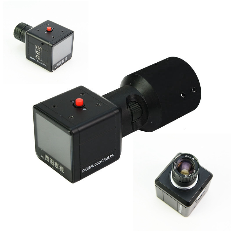Day Night Use Rifle Scope Add On DIY Night Scope Camera Device Lens with 2 LCD Screen Connecting Tube for RiflescopeDay Night Use Rifle Scope Add On DIY Night Scope Camera Device Lens with 2 LCD Screen Connecting Tube for Riflescope
