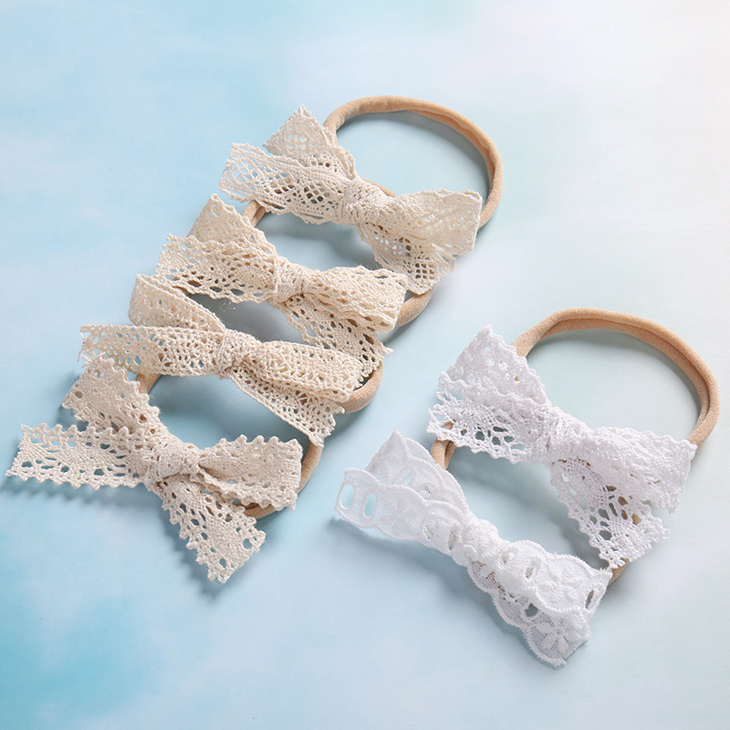 Newborn Headband Lace Bow Hair Bow Headwear Kids Headbands Newborn Photography Props Hair Accessories