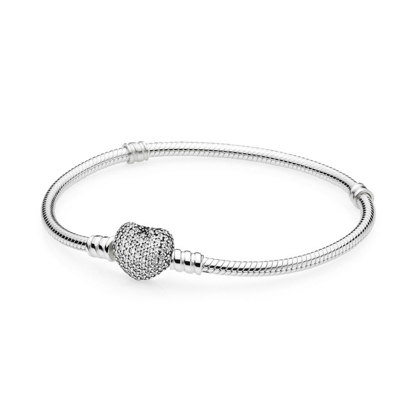 KAKANY Heart Snake Women Bracelet Geniune 100% S925 Pure Silver Pandor Original Copy Has logo Bangle Classic Jewelry