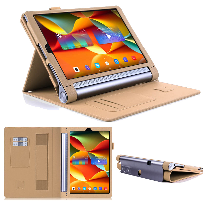 New Flip Wallet Hands Holder For lenovo yoga tab3 pro10 X90f Case Stand Book Cover Tablet Case For yoga tab 3 pro 10.1 inch