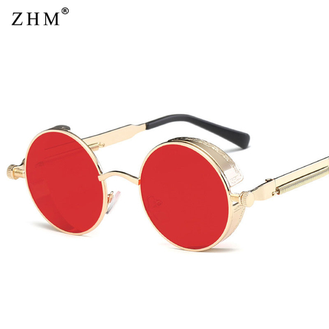 2019 Metal Steampunk Sunglasses Men Women Fashion Round Glasses Brand Design Vintage Sunglasses High Quality UV400 Eyewear Islamabad