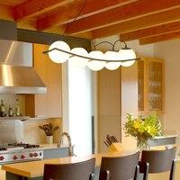 Modern Nordic Design E27 Black Ball Led Ceiling Chandelier Light Lusters Lamp for Loft Kitchen Living Room Bedroom Dining room