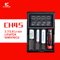 Klarus Original CH4S Inteligente Entrada USB 4 Slot de Carregador de Bateria AC lcd carregador de bateria inteligente para c aa aaa 18650 26650 14500