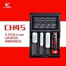 Original Klarus CH4S Inteligente Cargador de Batería AC de Entrada USB 4 Slot lcd cargador de batería inteligente para c aa aaa 18650 26650 14500
