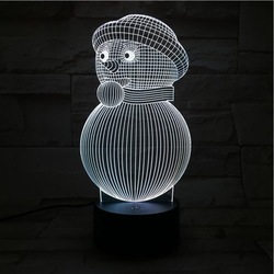 W wigilię bożego narodzenia 3d Snowman Led lampka nocna lampa biurkowa lampa kreatywny domu dekoracje świąteczne dla dzieci światła lampy pokoju lampa Led Usb
