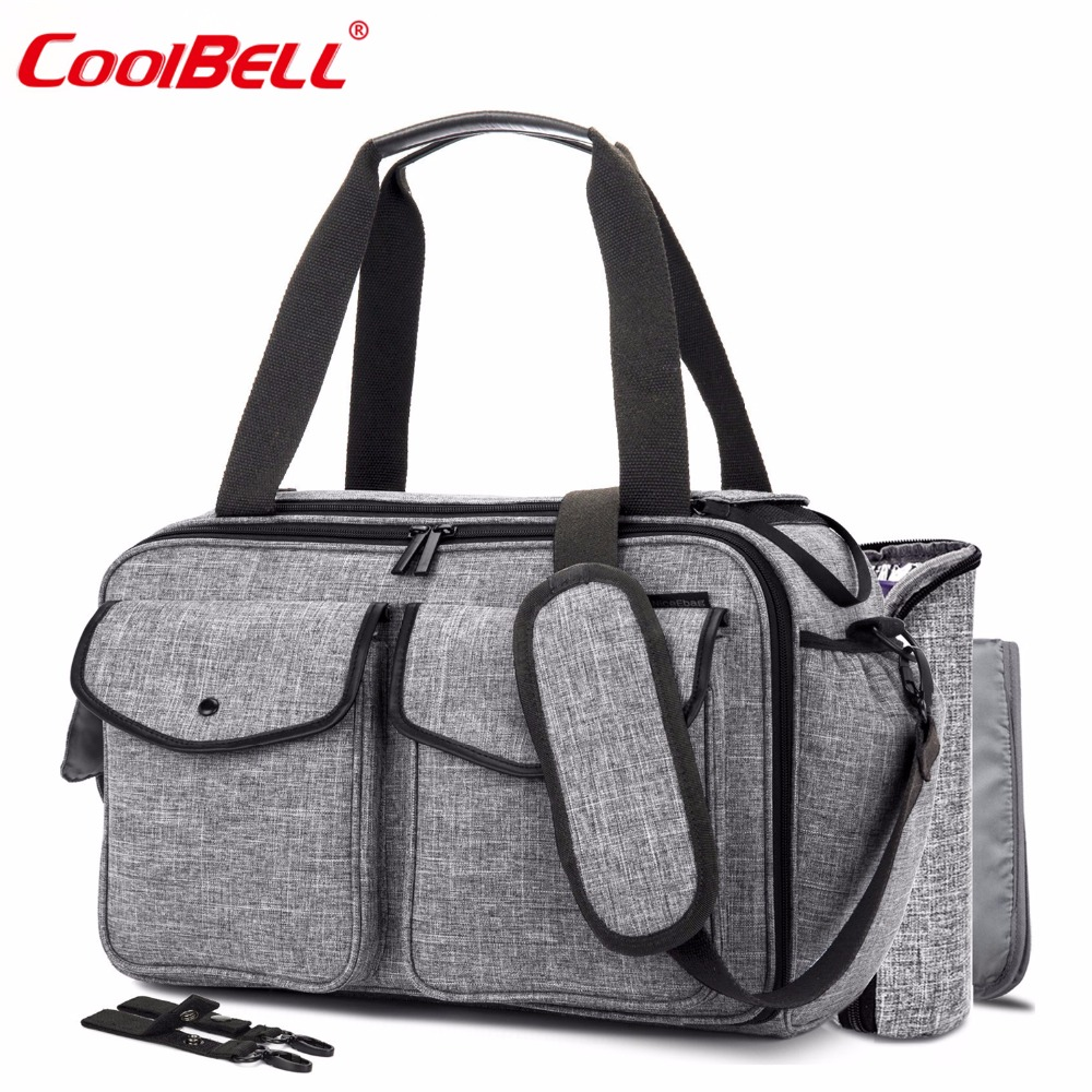 CoolBell Baby Diaper Bag With Insulated Pockets Nappy Bag Multi-functional Baby Accessories Shoulder Bag Include Changing Pad