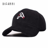 Difanni Autumn And Winter Men Good Quality Wool Baseball Caps Casual Cap Unisex Solid Color Felt