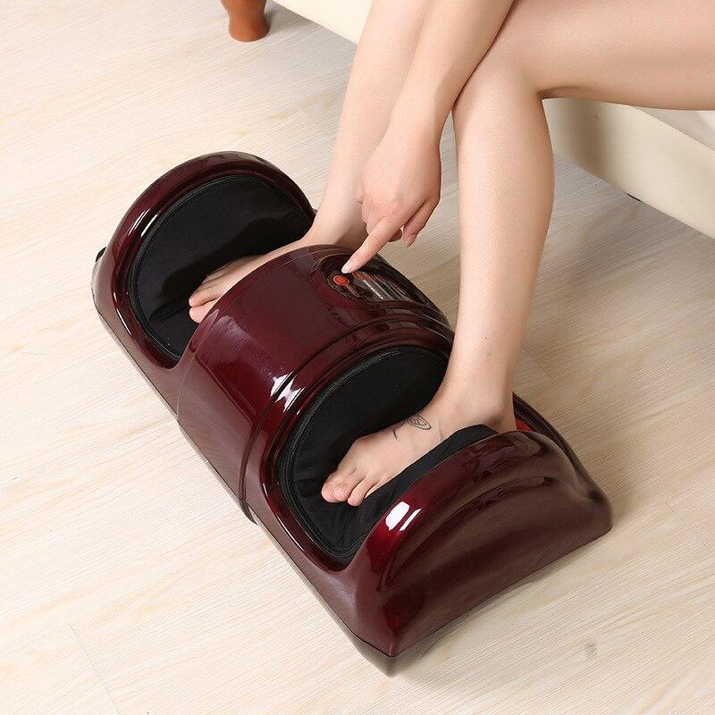 ФОТО Electric Health Care Antistress Muscle Release Therapy Rollers Shiatsu Gua Sha Heat Reflexology Leg Foot Massager Machine Device