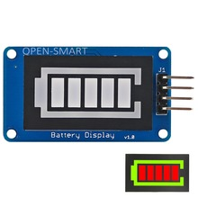 Battery Display Battery Style Digital Tube LED Battery Level Display Module for Arduino / AVR / ARM / PIC