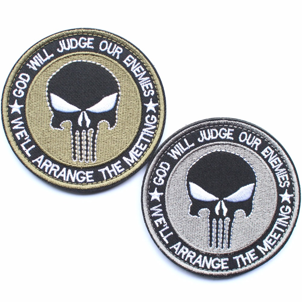 Punisher Skull Patches millitary patch American USA Thin blue line - Arts, Crafts and Sewing - Photo 2