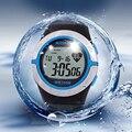 Часы Монитор Сердечного ритма, новый 2016 женщины Каучуковый ремешок дайвинг Плавание Велосипед часы, 100 М Водонепроницаемый Спортивные Часы Подарки
