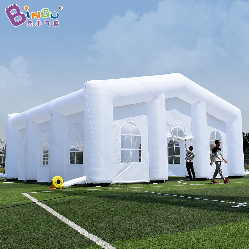 High quality 10X10X5m giant inflatable house with blower for wedding party 2018 hot sale inflatable outdoor event tent toy tent factory direct sale 6x6x3 5 m inflatable dome igloo tent for outdoor event high quality blow up all white yurt tent toy tent