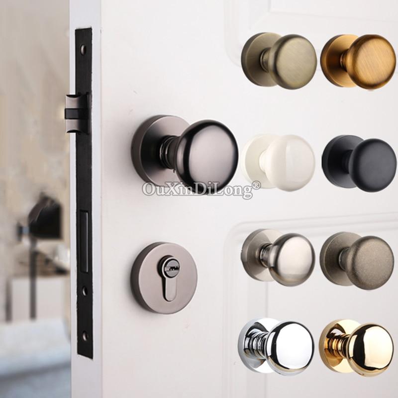 Elegant Luxury European Spherical Mute Door Lock Set Interior Living Room Bedroom Bathroom Door Lock For 35 50mm Doors Door Locks Aliexpress