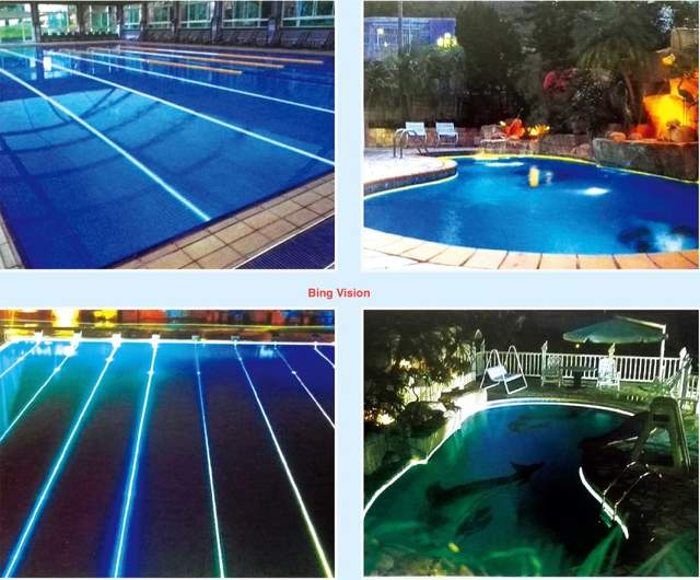 Diy Fiber Optic Pool Light Kit With 40m 17 3mm Solid Core Side Glow Cable 100w Rgbw Led Engine Remote