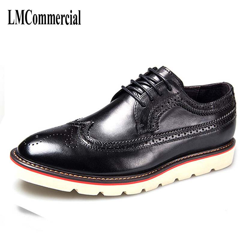 leather men's casual shoes British Bullock carved breathable retro men boots  breathable handmade fashion spring and autumn 2017 new autumn winter british retro men shoes zipper leather shoes breathable fashion boots men casual shoes handmade f