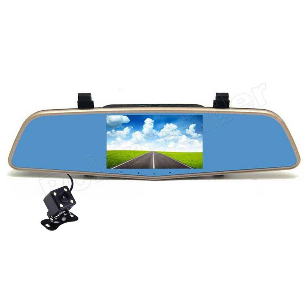 Dual Lens 4.5 inch Rearview Mirror dash camera Car DVR Full HD 1080P Night Vision G-Sensor digital zoom Video Recorder