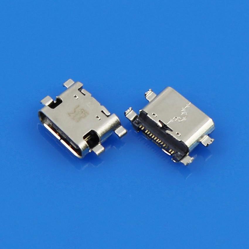 Jing Cheng Da 50pcs,100pcs/lot type C micro usb connector for ZTE C2016 W2016 replacement jing cheng da 10 300pcs lot diy usb 2 0