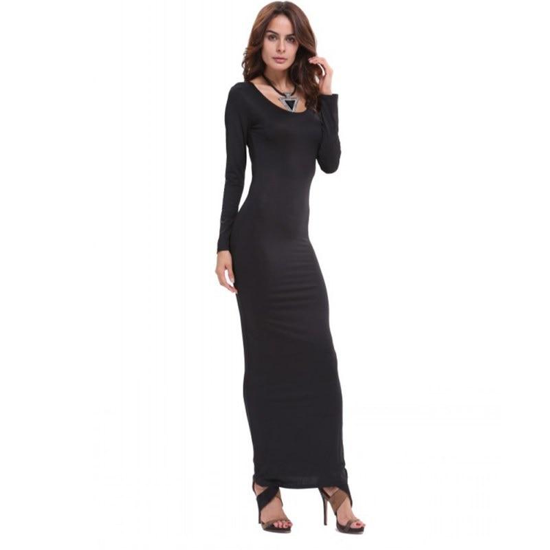 Long sleeve bodycon maxi dress birthday unique