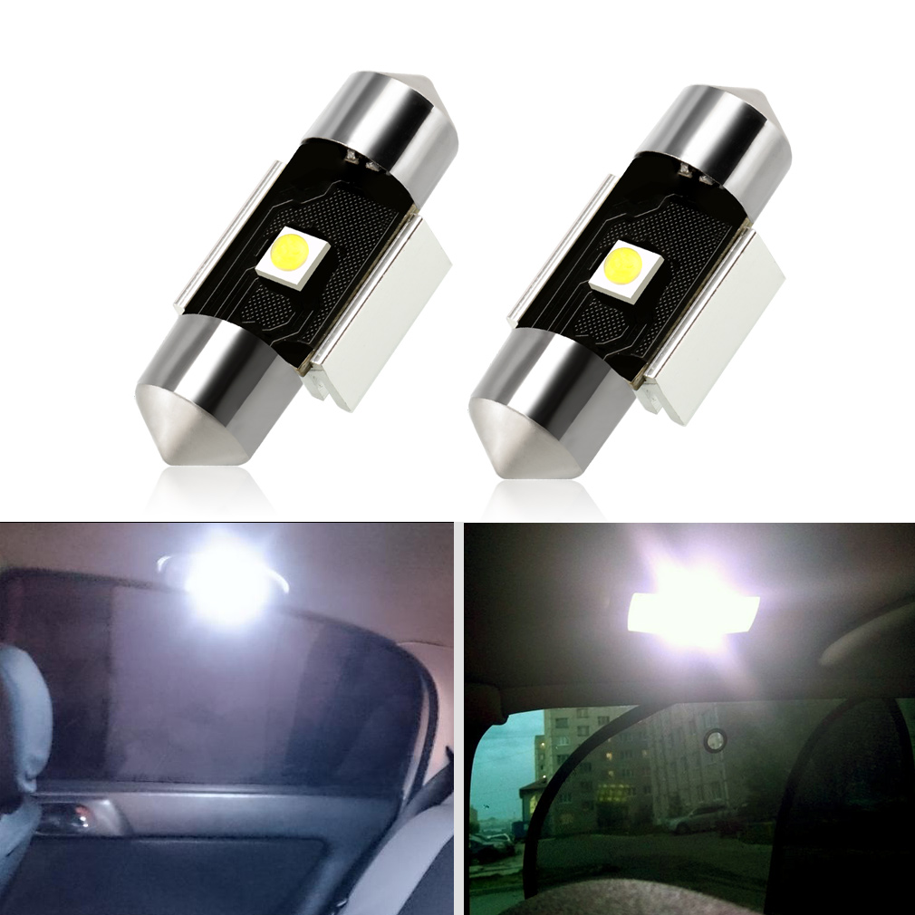 2Pcs C5W LED Bulbs Canbus Festoon Light 31mm 36mm 39mm 41mm with Cree Chips Auto Dome Lamp License Plate Car Lights D020 2pcs festoon led 36mm 39mm 41mm canbus auto led lamp 12v festoon dome light led car dome reading lights c5w led canbus 36mm 39mm