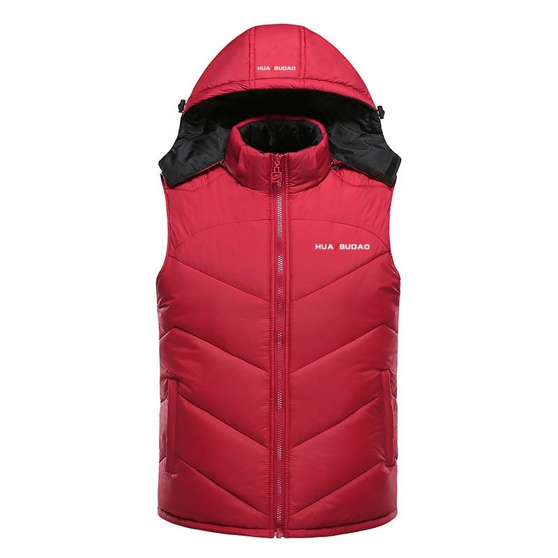 лидер продаж 2016 года зимний жилет с капюшоном толстые теплые мужчин куртка без рукавов жилет улица стиль толстовка мужской размер 4xl пальто