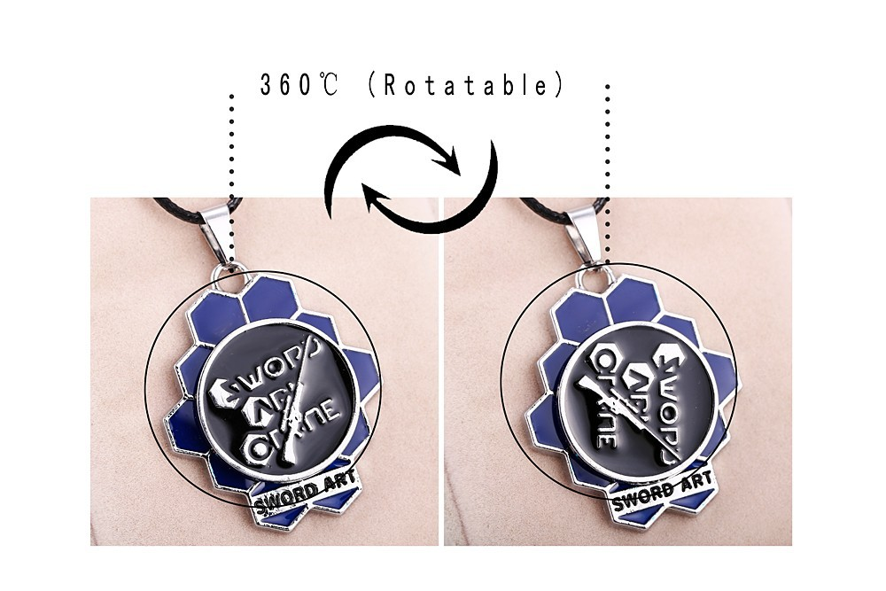 Sword Art Online Rotatable Logo Necklace