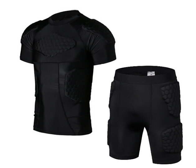 Hot Sports Protector Rugby Football Basketball Protective Shorts Anti Crash Of The Sport Pads Protector Armor Shorts and Vest football shorts