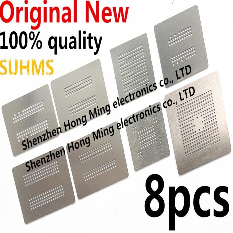 8pcs Directly Heat BGA Reballing Stencil Template for Memory RAM DDR1 DDR2 DDR3 DDR5