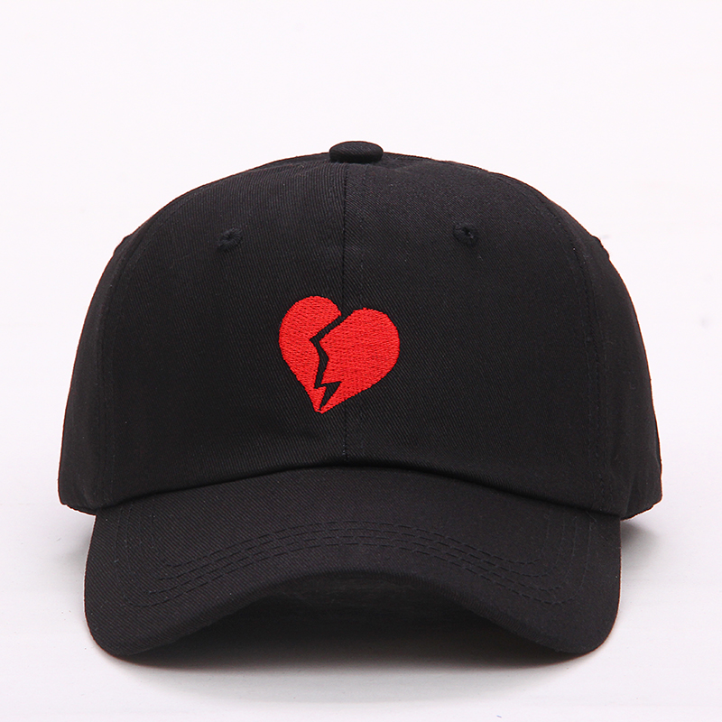 2017 new embroidery Heartbraker baseball cap men women fashion Cotton baseball cap hat Snapback Hats adjustable Caps kcchstar 18k crystal ring with artificial diamond golden purple