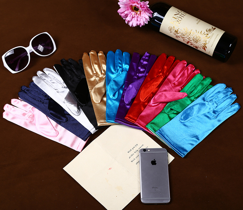 2019 New Fashion Stretch Satin Long Gloves For Women/Evening Party Opera Gloves Women/Brand Fashion Apparel Accessories For Lady