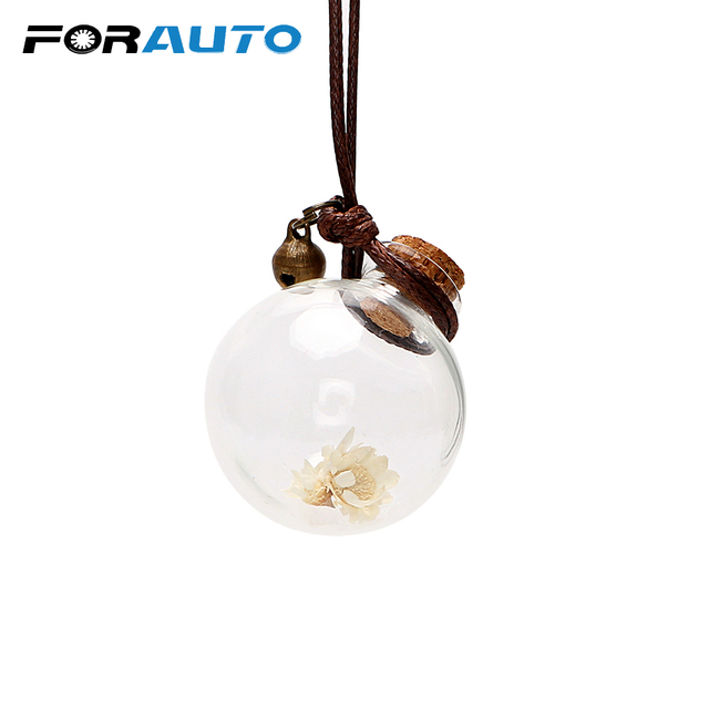 Car Perfume Bottle Air Freshener with Flower for Essential Oils Auto Ornament Perfume Pendant Empty Hanging Bottle Car-styling