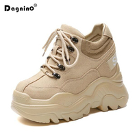 New Casual High Platform Shoes Women Breathable Height Increasing Shoes 12CM Thick Sole Trainers Sneakers Woman Deportivas Mujer